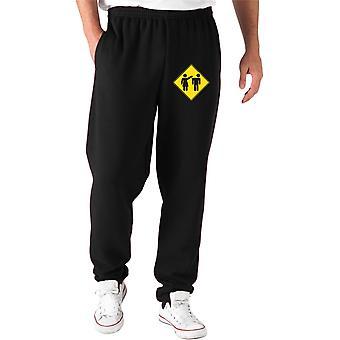 Black tracksuit pants fun2673 panelidado mujer violent
