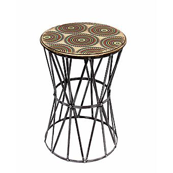 優雅にデザインされたメタルアクセントテーブル、マルチカラー