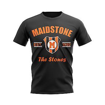 Maidstone perustettiin jalka pallo T-paita (musta)