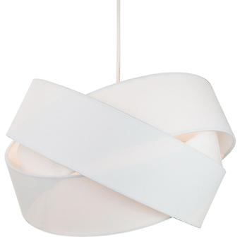 Modern Triple Ring White Cotton Fabric Pendant Shade with White Satin Inner