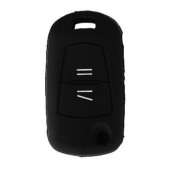Silicone 2 buttons car key case Opel black