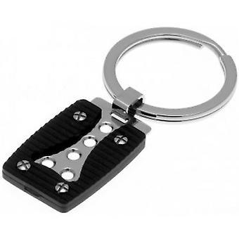 Puerta-cl K441020 - clave acero embrague Goe trinquete bicolor Pvd negro hombre
