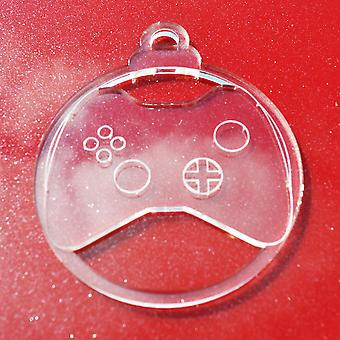 6 Pk Console Game Controller Clear Acrylic Christmas Decorations