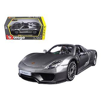 Porsche 918 Spyder Grey 1/24 Diecast Modellauto von Bburago
