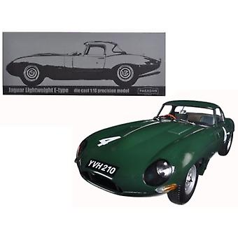 Jaguar Lightweight E-Type Sutcliffe YVH210 #4 Green 1/18 Diecast Model Car par Paragon