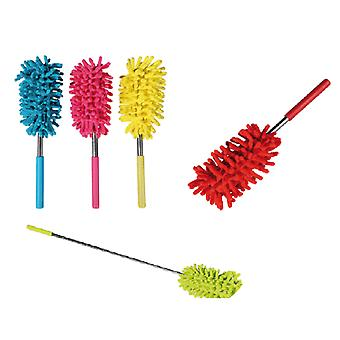 Retractable and bendable duster in microfiber in cheerful colors