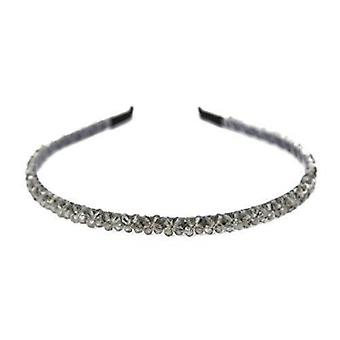 Damskie kryształinkrustowane Tiara Diamante Opaska na głowę dla dziewczynek