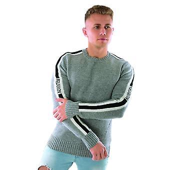 Religie 39htow21 Tone Knit Stripe Jumper - Grijs