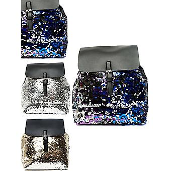 Womens Kids Backpack Sequin Rucksack Glitter Travel School College Bag Gift New