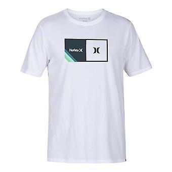 Hurley Halfer Stripe Kurzarm T-Shirt in weiß