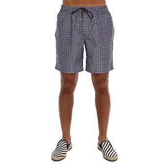 Dolce & Gabbana Blue Print Beachwear Shorts