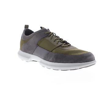 Geox U Traccia  Mens Green Suede Lace Up Low Top Sneakers Shoes