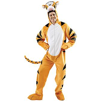 Tigger Disney Winnie The Pooh Cartoon Deluxe Mascot Dress Up Mens Costume