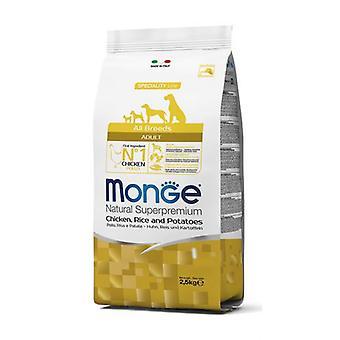 Monge Взрослый Все породы Корм для собак Курица / Рис / Картофель (Собаки, Корм для собак, Сухой корм)
