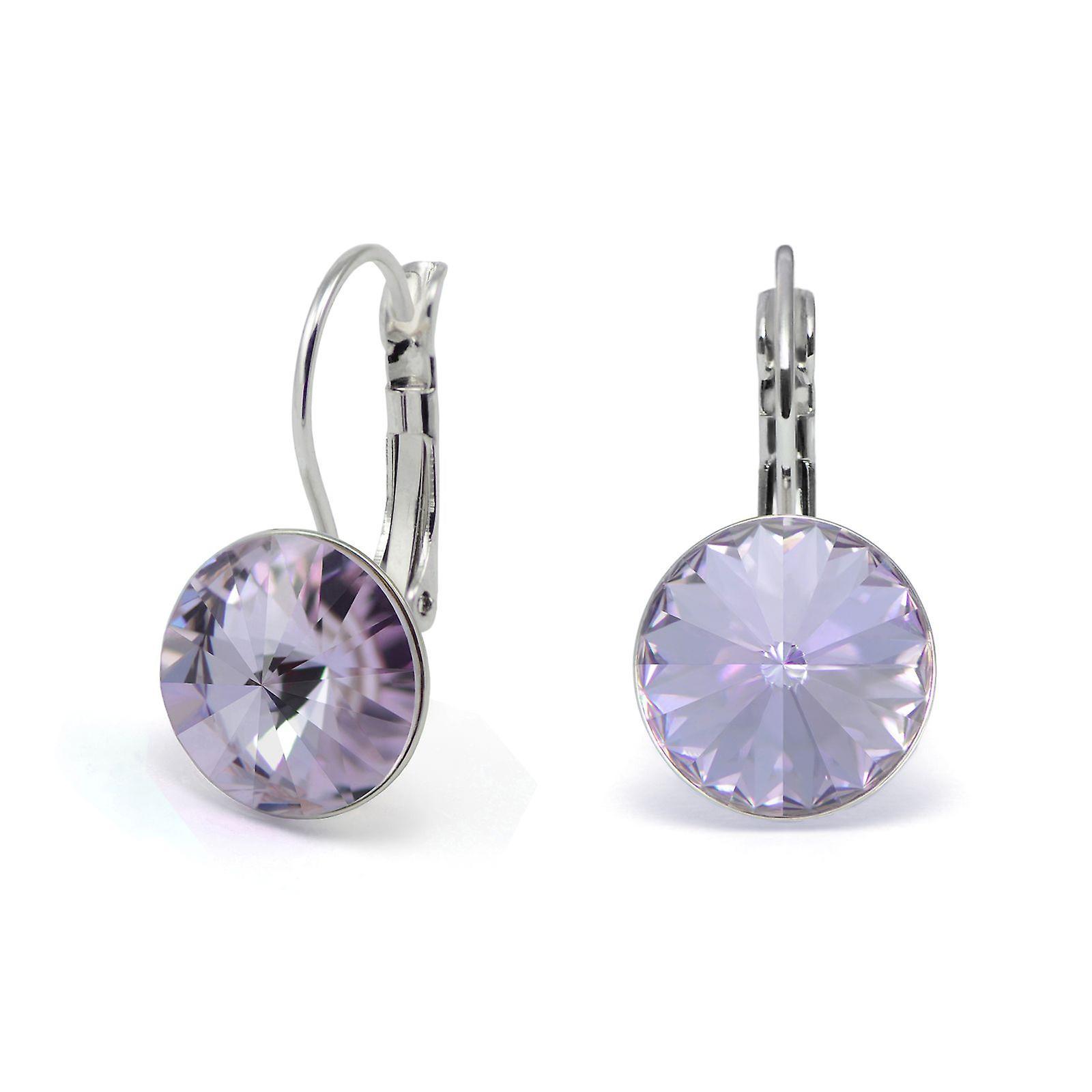 Crystal earrings Violet EMB 1.13