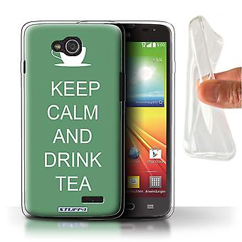 STUFF4 Gel TPU Case/Cover for LG L90/D405/Drink Tea/Green/Keep Calm