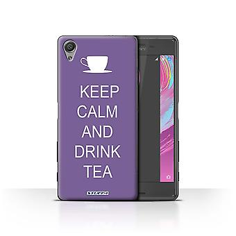 STUFF4 Case/Cover for Sony Xperia X Performance/Drink Tea/Purple/Keep Calm