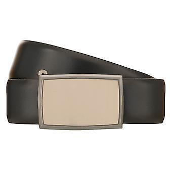 LLOYD Men's Belt Belt Herenbelt Leren Riem Automaat Clasp Navy/Blue 8535