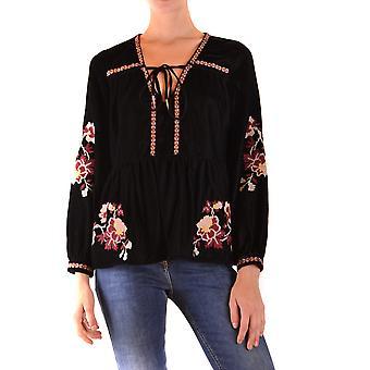 Pinko Ezbc056282 Kvinder's Sort polyester skjorte