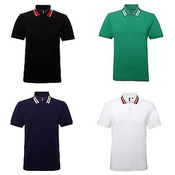 Asquith & Fox Mens kurze Ärmel zweifarbig Tipped Polo-Shirt