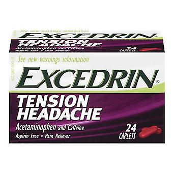 Excedrin tension headache caplets, 24 ea