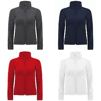 B&C Womens Hooded Premium Softshell Jacket (Windproof, Waterproof & Breathable)