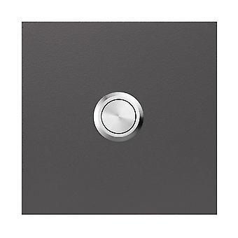 MOCAVI RING 500 cloche de qualité anthracite éclatant de fer (DB 703) en acier inoxydable V4A, carré (8,5 cm)