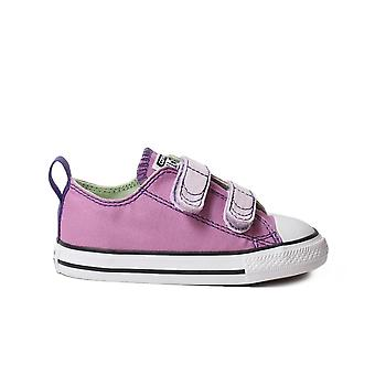 Converse Chuck Taylor All Star 751718C  Lilac Canvas Childrens Unisex Rip Tape Shoes