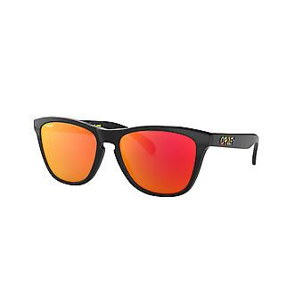 Oakley Frogskins OO9013 9013E6 Polished Black/Prizm Ruby Sunglasses