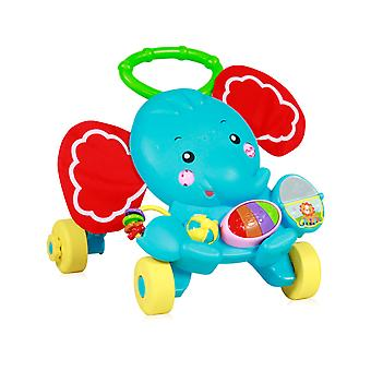 Lorelli Running Trolley Elephant Running Aid Play Center Lys gribende ringe Musik Knapper