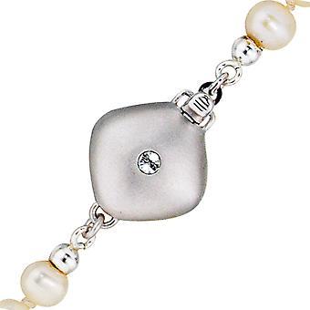 Naisten ketju lukko lukko 925 Sterling hopea matta 2 kuutioketju lukko
