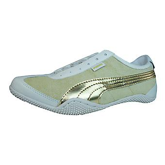 Puma Mystere Chevron Womens Leather Trainers / Shoes - Beige