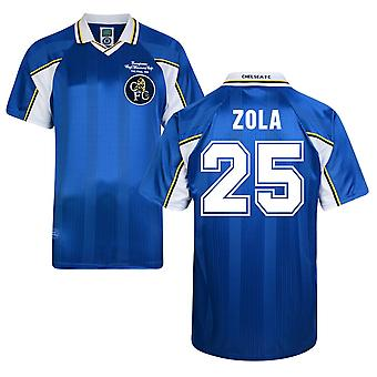 Score Draw Chelsea 1998 Home Shirt (Zola 25)