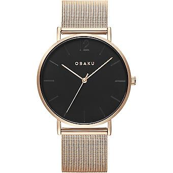 Obaku Mark Gerbera Black Dial Wristwatch V197GXVBMV