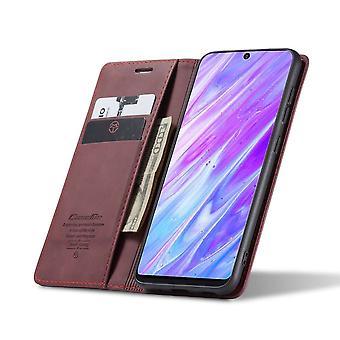 CaseMe Retro Bookcase Hoesje Samsung Galaxy S20 Plus - Zwart