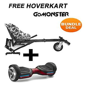 "6.5"" G PRO Red Bluetooth Hoverboard mit Go Monster Hoverkart in Camo"
