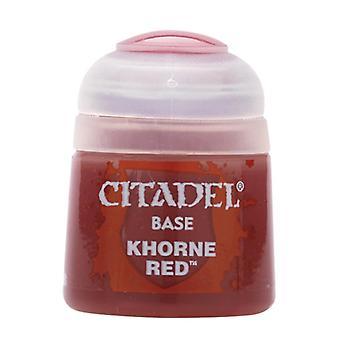 Khorne Red, Citadel Paint - Base, Warhammer 40,000/Age of Sigmar