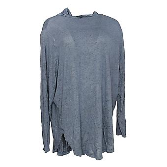 Anybody Women's Top Brushed Hacci Turtleneck Blue A345165