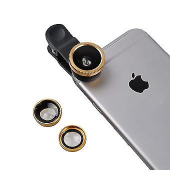 BlackBerry Evolve (Guld) Universal Clip Lens 3 i 1 Kit