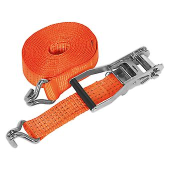 Sealey Td5008J Ratchet Tie Down 50 Mm X 8Mtr Polyester singelbanden 5000Kg Load Test