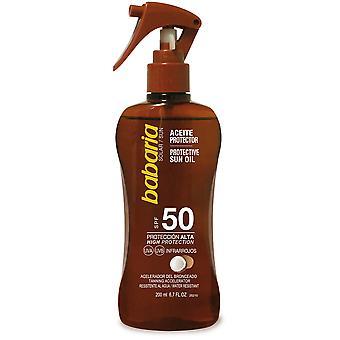 Babaria Protetor solar óleo de arma coco F50 200 ml