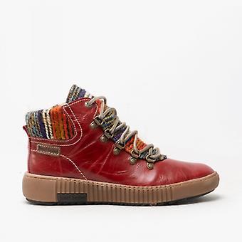 Josef Seibel Maren 06 Ladies Leather Ankle Boots Hibiscus