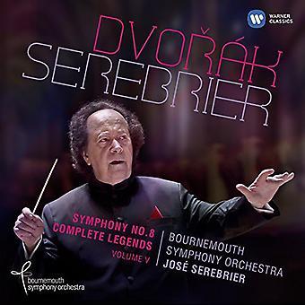 Dvorak/Jose Serebrier - Sym 8 & Comp Legends [CD] USA import