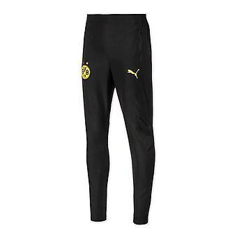 2020-2021 Borussia Dortmund Puma Casual Sweat Pants (Black)