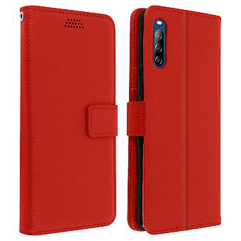 Sony Xperia L4 Folio Case with Wallet Function - Red