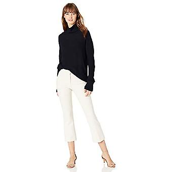 Marke - Lark & Ro Frauen's Boucle Turtleneck Oversized Pullover, schwarz, ...