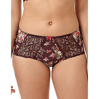 Sans Complexe Diane 40PAA67-HLL Kvinnor's Plum Perfect/Sangria Floral Lace Knicker Trosa Boyshort