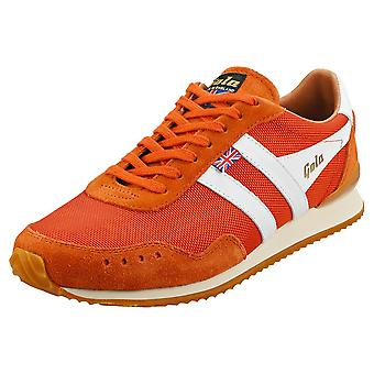 Gola Track 317 -made In England- Mens Casual Trainers in Oranje Wit