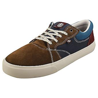Element Wasso Mens Skate Trainers in Dark Earth