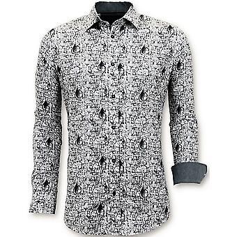 Iron-free Shirts - Digital Print - White